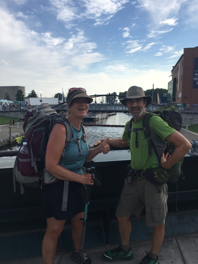 Finishing our Erie Canal walk in Buffalo, NY