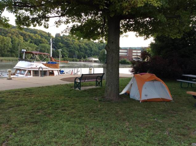 Our campsite at Little Falls, NY marina