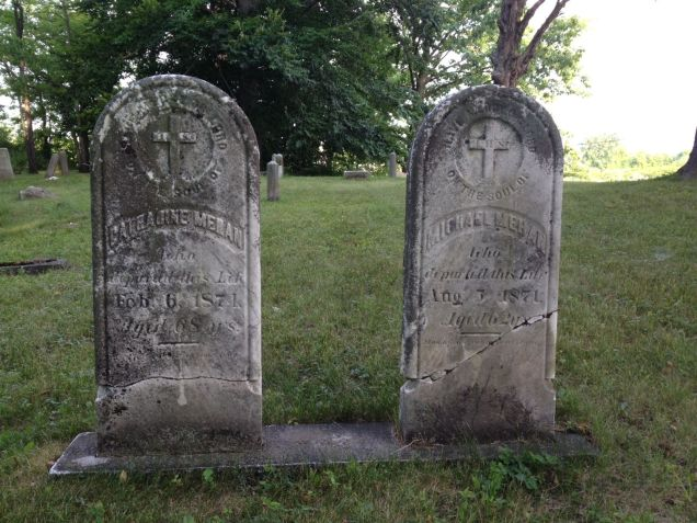 Headstones in pioneer cemetery, Lockport, NY
