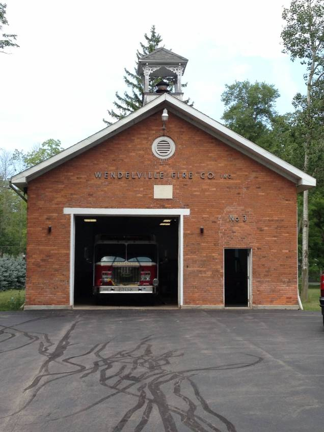 Wendelville Fire Department in 1862 school house