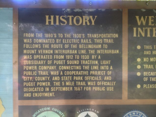 History of Interurban Trail