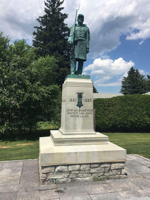 War memorial in Canastota, NY