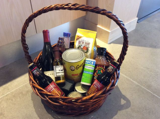 Basket of Birthday gifts from the staff at Aloft in Syracuse, NY