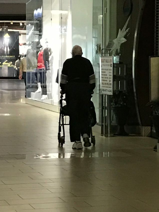 Mall walking is awesome for those needing an even surface