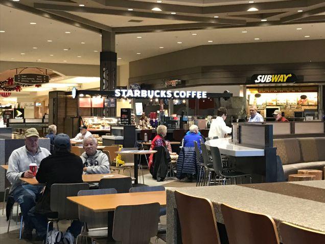 Apres-Walking social time at Starbucks, open at 7 am