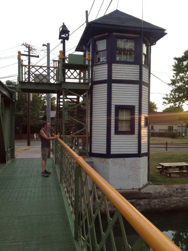 Operator's tower at the lift bridge in Holley, NY